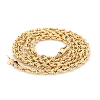 "20"" 4mm 14kt Rope Chain"