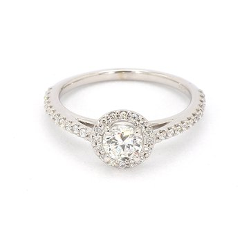 1/2ct Diamond Halo Engagement Ring
