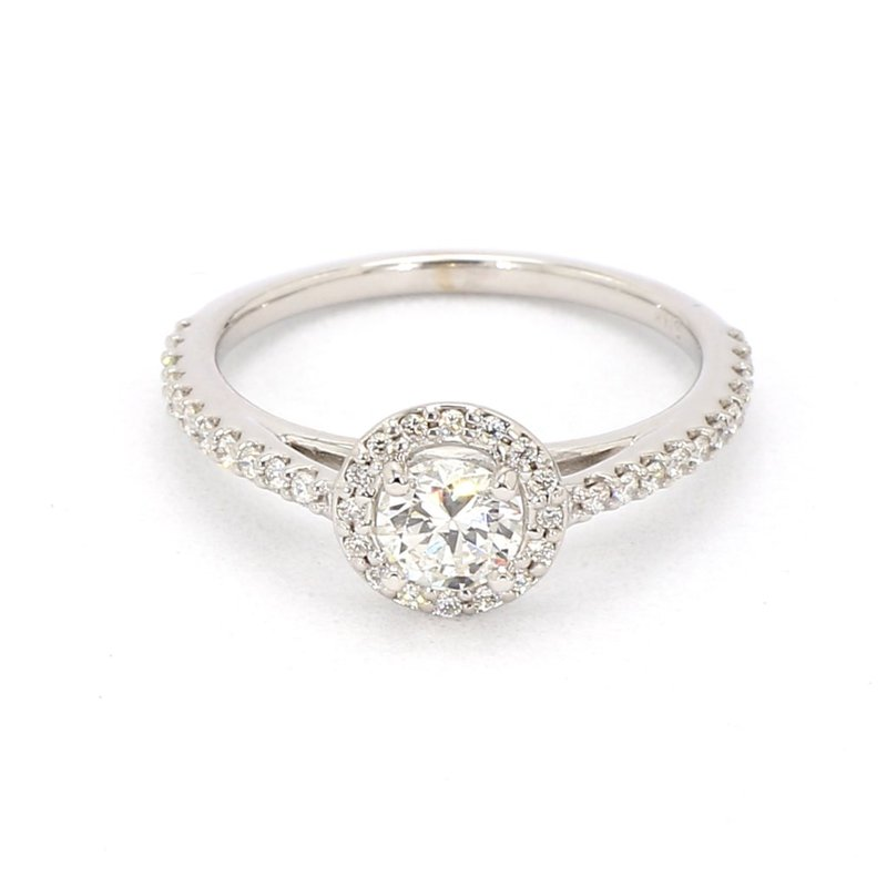 1/2ct Diamond Halo Engagement Ring