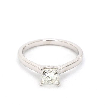 .84 Carat Princess Cut Solitaire Diamond Engagement Ring