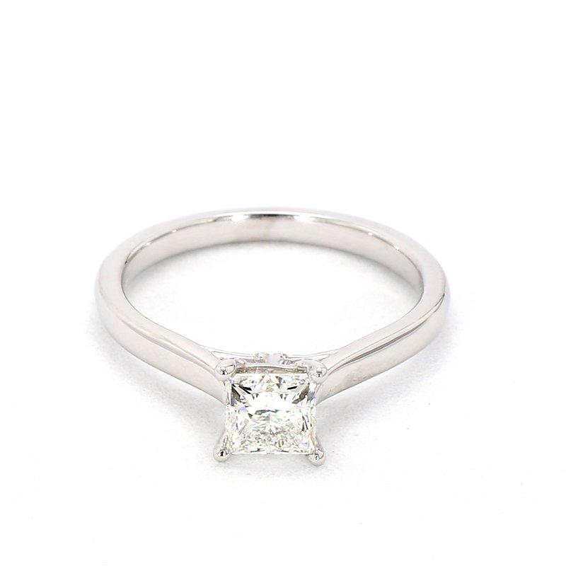 .84 Carat Princess Cut Solitaire Diamond Engagement Ring