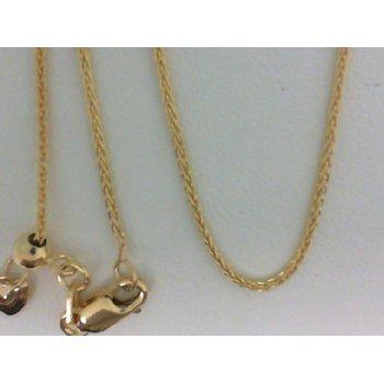 14 Karat Yellow Gold Adjustable Wheat Chain