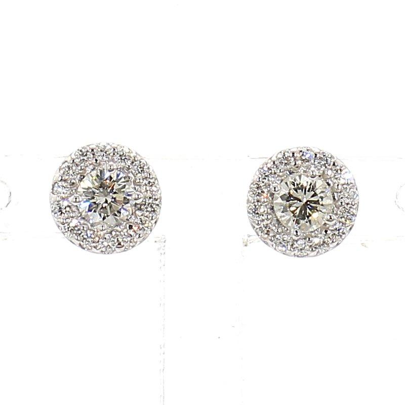 1/3ct Halo Diamond Earrings