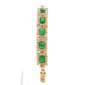 5 1/4ct Emerald & Diamond Bracelet