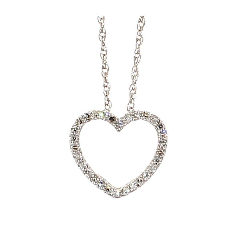 1/4ct Diamond Heart Pendant