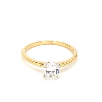 3/4ct Diamond Petite Engagement Ring