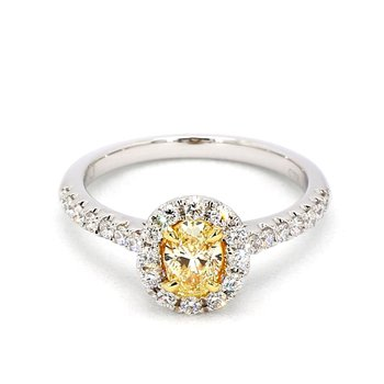 1.00ct Fancy Yellow Diamond Engagement Ring