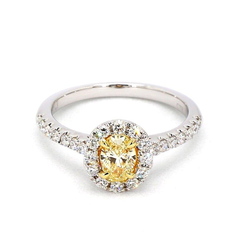 1.00ct Fancy Yellow Diamond Engagement Ring