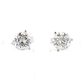 1ct Diamond Martini Stud Earrings