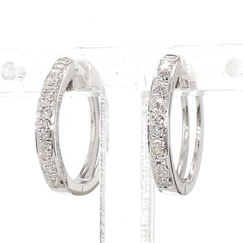 .11ct Pave Diamond Hoop Earrings