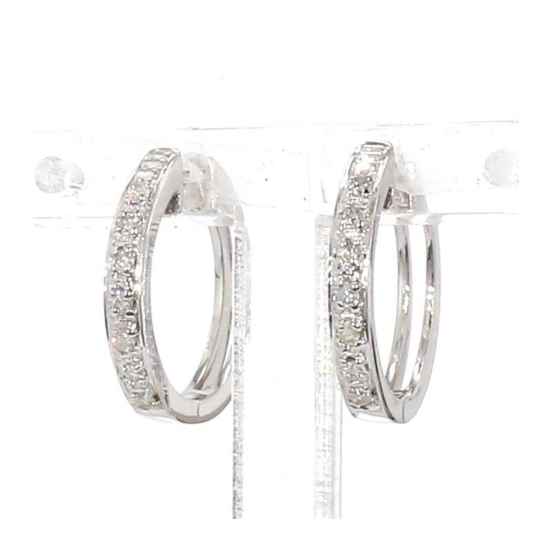 .11ct Pave Diamond Hoop Earrings