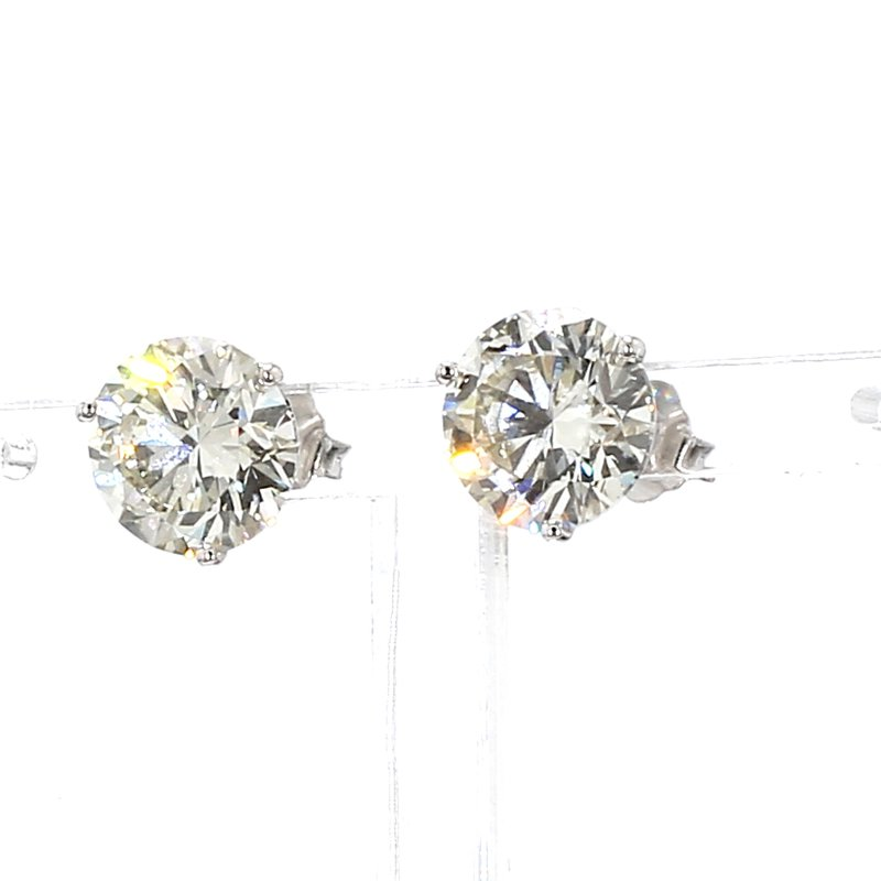 6ct Round Diamond Earrings