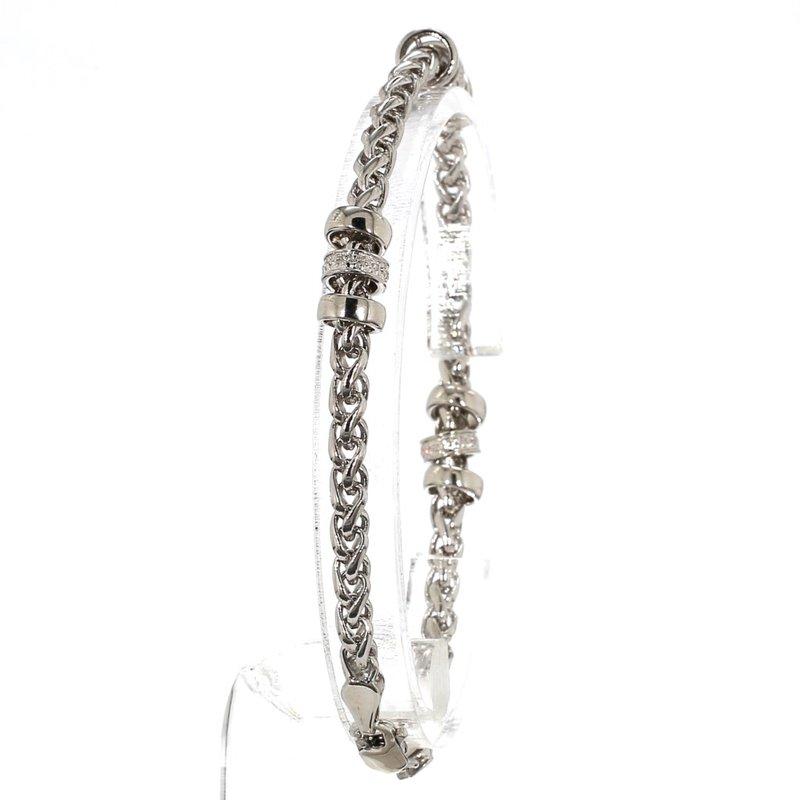 Sterling Silver .10CT Diamond Station Bracelet