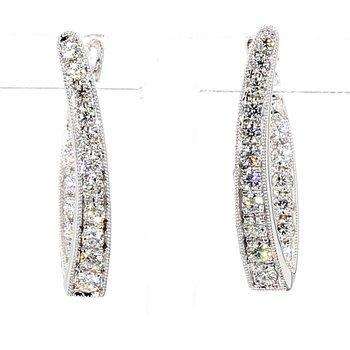 2/5ct Diamond Drop Earrings