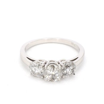 2 Carat 3 Stone Diamond Engagement Ring