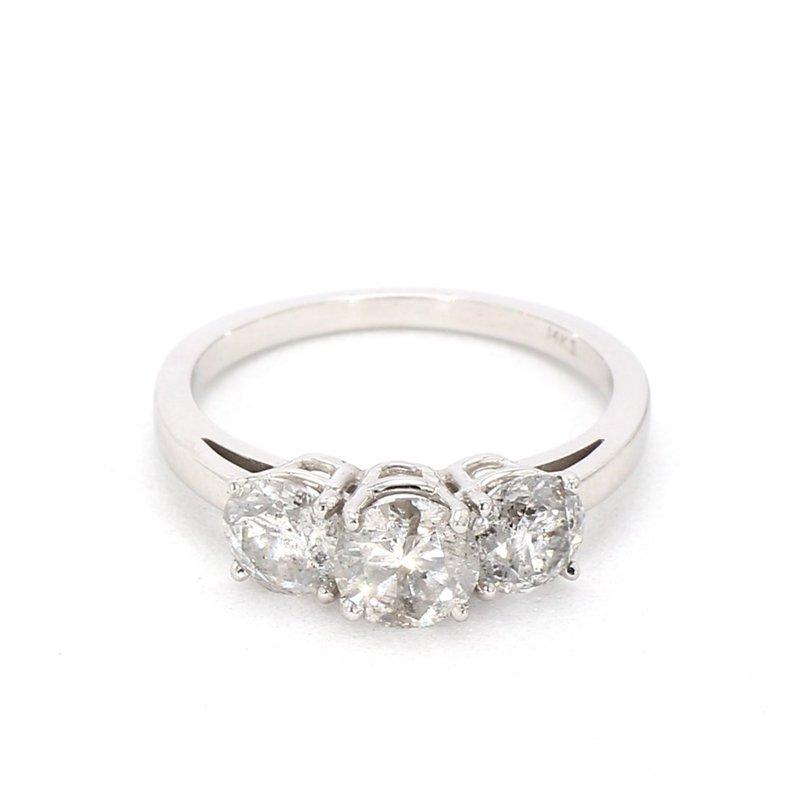 2 Carat 3 Stone Diamond Engagement Ring