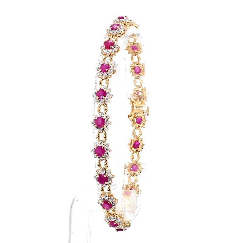 4 1/4ct Ruby & Diamond Bracelet