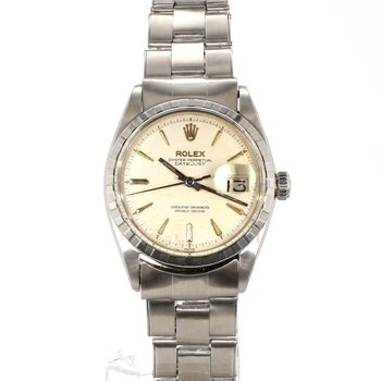 1950's Unisex PiePan Silver On Silver Dial DateJust