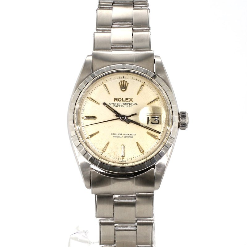 1950's Vintage Unisex PiePan Silver On Silver Dial DateJust