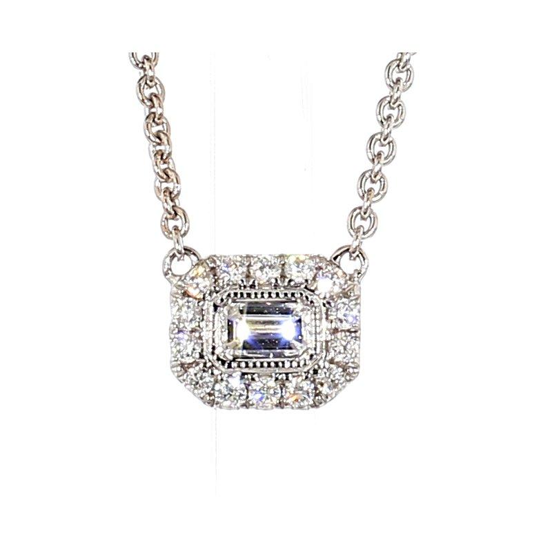 1/3ct Diamond Halo Necklace