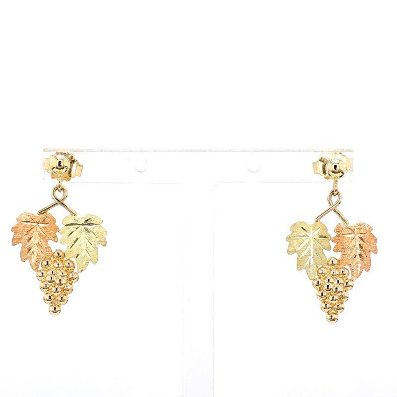 Estate14 Karat Gold Wine Grape Gold Earrings
