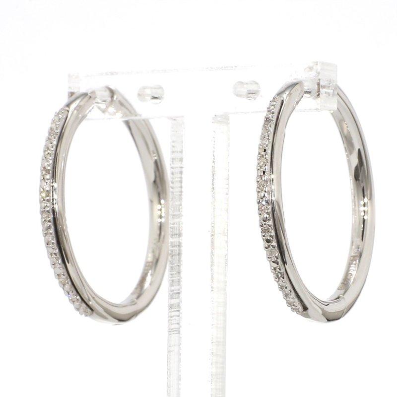 .06ct. Pavé Diamond Hoop Earrings
