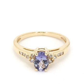 .58 Carat Tanzanite And Diamond Estate Ring