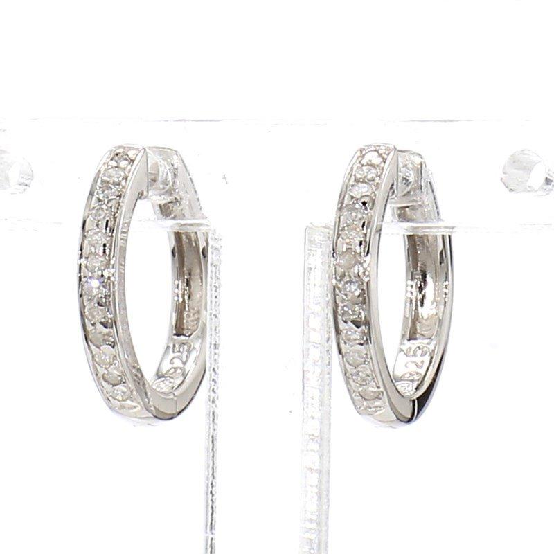1/10ct Diamond Hoop Earrings