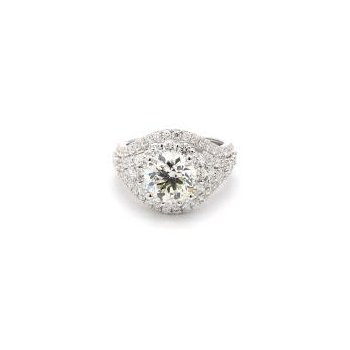 4 Carat Diamond Halo Ring