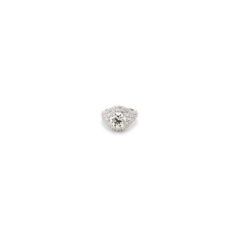 4 Carat Diamond Halo Ring
