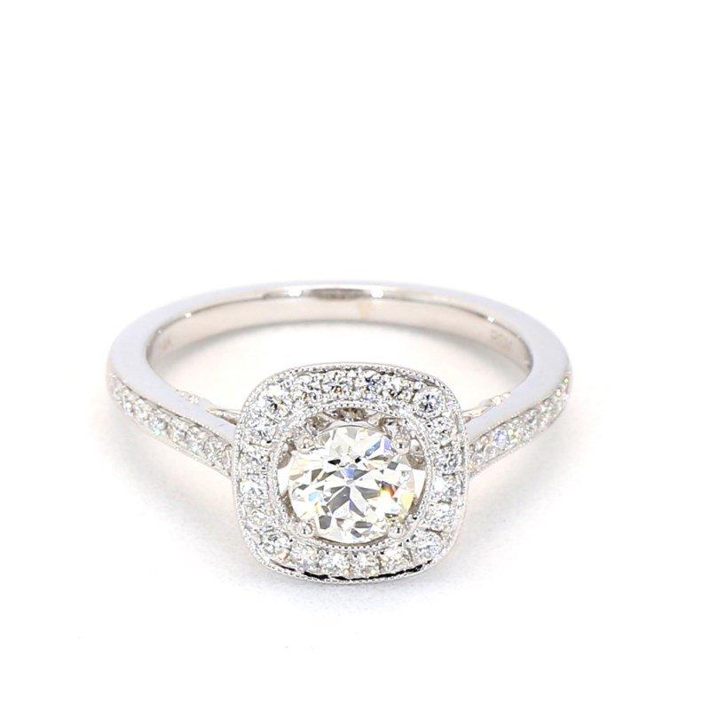 1.01 Carat Diamond Halo Engagement Ring