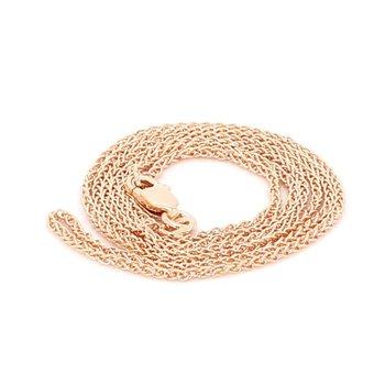 14 Karat Rose Gold Wheat Chain