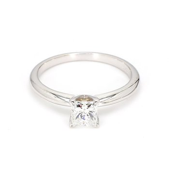 .74 Carat Princess  Diamond Solitaire Engagement Ring