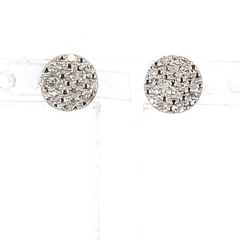 .06ct. Diamond Halo Earrings