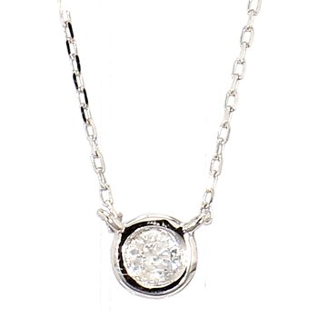 .05 Carat Diamond Bezel Necklace