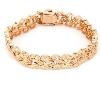 18KT 10mm Wide Bright Cut Bracelet