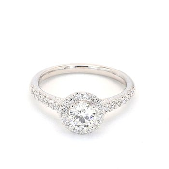 .84 Carat Diamond Halo Engagement Ring