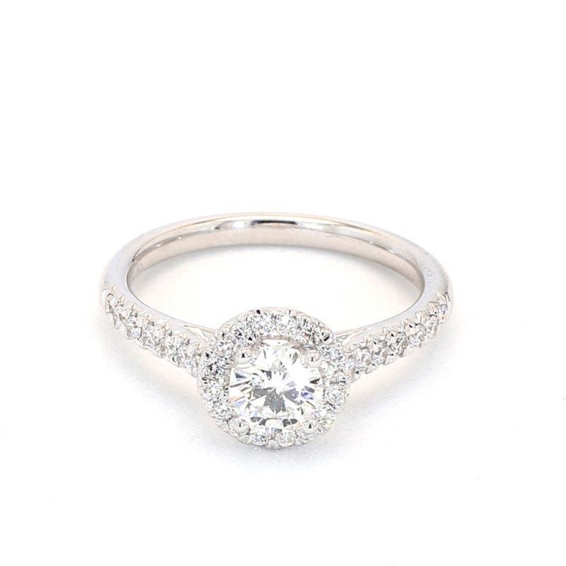 .84 Carat Diamond Halo Engagement Ring
