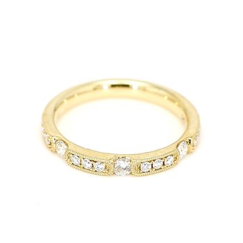.32 Carat Diamond 14 Karat Yellow Gold Ring