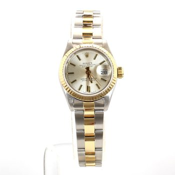 14K & Stainless Rolex Oyster Perpetual DateJust - Ladies Small Size