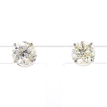 2ct Diamond Earrings w/Screw backs