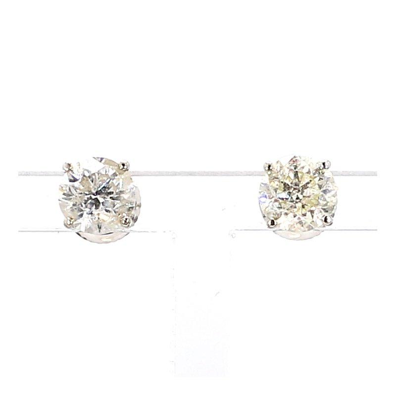 2ct Diamond Earrings w/Screw backs