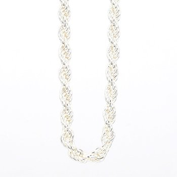 "Sterling Silver 2.5mm Solid Rope 18"" Chain"