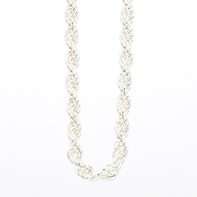 """Sterling Silver 2.5mm Solid Rope 18"""" Chain"""