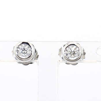 1/10ct Bezel Set Stud Earrings
