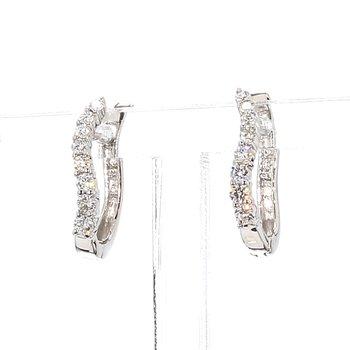 1/3ct Diamond Hoop Earrings