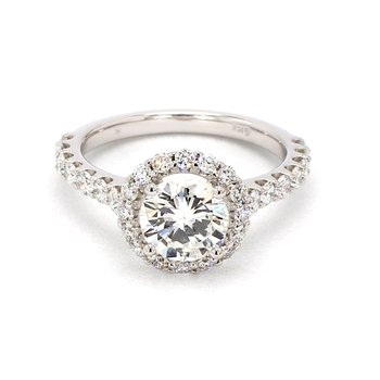 2 1/4CT Diamond Halo Engagement Ring