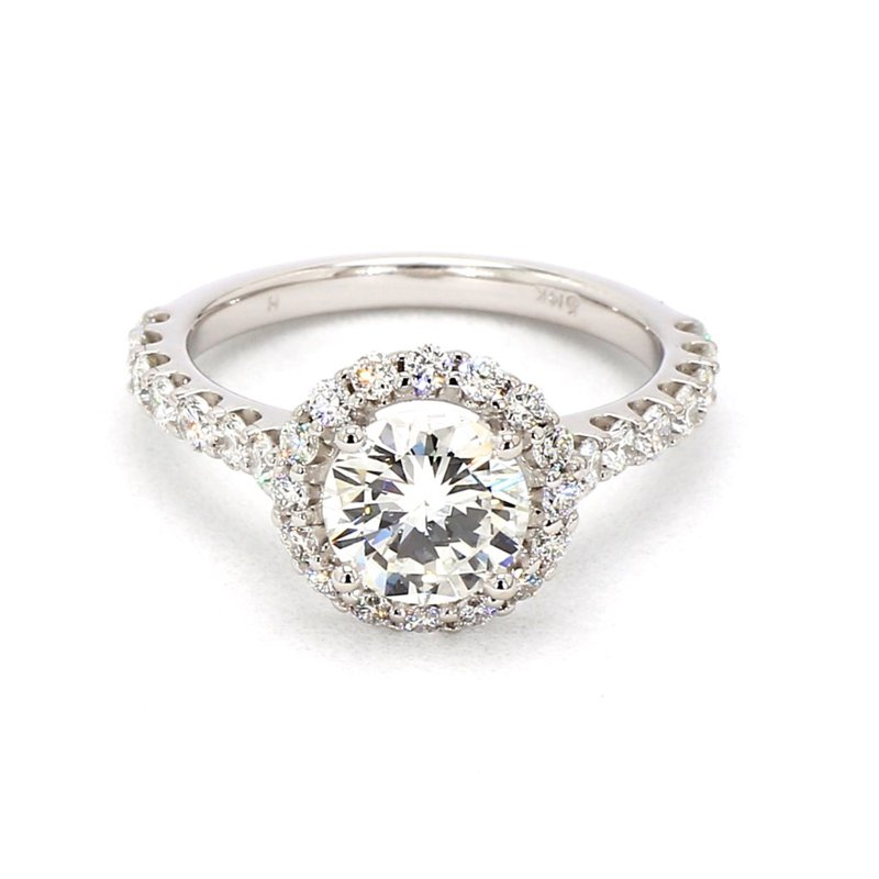 2 1/4CT Diamond Halo Engagement Ring