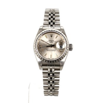 Pre-Owned Ladies Rolex 25mm Stainless Steel Oyster Perpetual Date Watch 2005