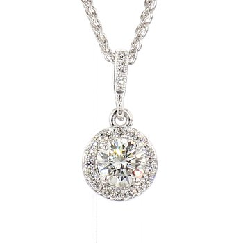 1/2ct Diamond Halo Pendant